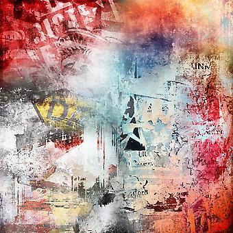 50 Shades Of Colors Tapis imprimé multicolore en polyester, coton, L80xP200 cm