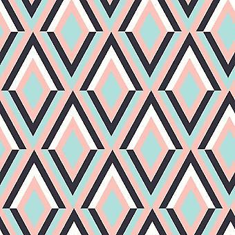 Trend Patchwork 4 Wielokolorowy dywan z nadrukiem poliestrowym, bawełna, L100xP150 cm