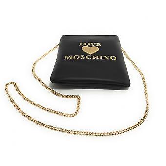 Женская сумка Любовь Moschino Сумка-клатч с плечевым ремнем Ecopelle Черный Bs21mo30 Jc4084