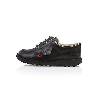 Kickers kick alacsony j mag fekete bőr cipő kf0000439btw