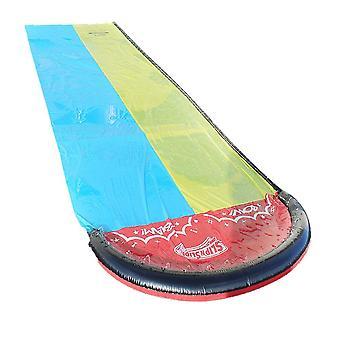 Garden lawn waterslide, summer garden inflatable surf with crash pad, outdoor water toy for children