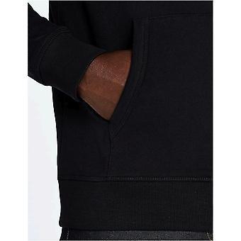 MERAKI Men's Standard Zip Hoodie, Black, L