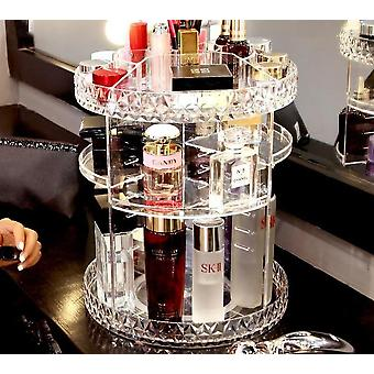 360 Degree premium rotatable transparent cosmetics and makeup storage organiser
