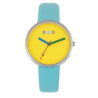 Crayo Metric Quartz Yellow Dial Unisex Watch CRACR5806