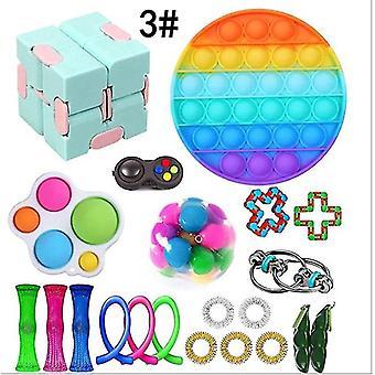 Sensorische Fidget Speelgoed Bundel Stress Relief Met Fidget Hand Toys set,3 #