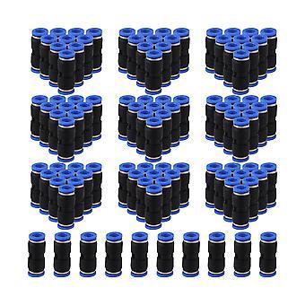 100 x Black 10mm Push In Straight Quick Fitting Connecteur pour tube pneumatique