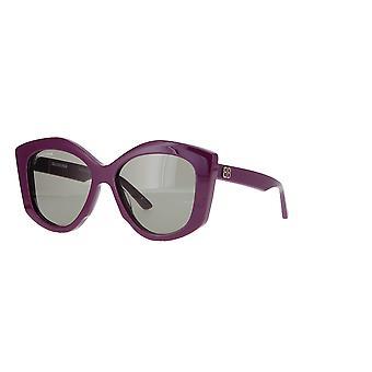 Balenciaga BB0126S 004 Violet/Green Sunglasses