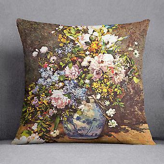 Renoir-tyynyn käyttö ja suuri maljakko