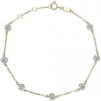 Mark Milton Flower Bracelet - Gold/White Gold