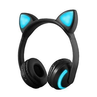 ZW-19 trådløst Bluetooth headset glødende katt øretelefon med mikrofon