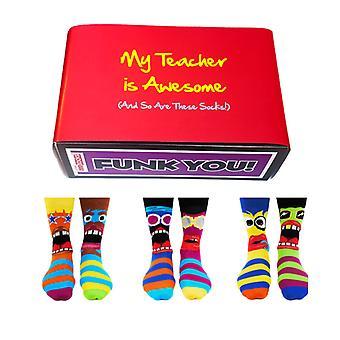 Удивительный подарочный набор для учителей - Различные шансы для мужчин - Funk You Socks