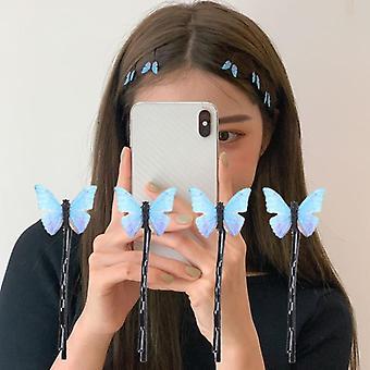 4pcs Butterfly Hairpins Elegant Gauze Hair Clips