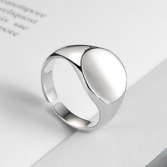 Anello geometrico cerchio rotondo irregolare, anelli di dita aperti, uomini