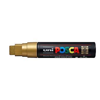 Uni POSCA PC-17K 15mm Broad Chisel Marker Pen - Yellow