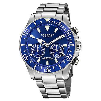 Kronaby Diver Collection | Bluetooth | Blue Dial | Stainless Steel S3778/1 Watch