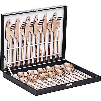 FengChun Besteck, 24-teilige Besteck Set, aus Edelstahl Hochwertige Spiegelpolierte Besteck-Sets,