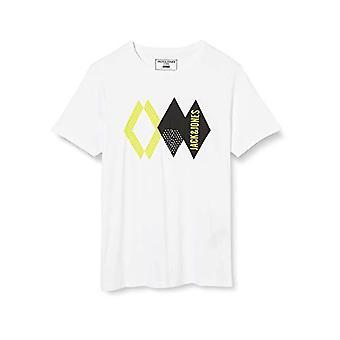 JACK & JONES T-Shirt, Fit: Slim/Packed with Black Combo White, XL Men's