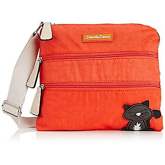 SwankySwans - Riley Cat Designer Women's Crossbody Bag, Orange(Orange.), One Size