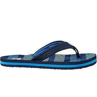Reef Kids Ahi Summer Beach Holiday Sandals Thongs Flip Flops - Deep Sea Stripes