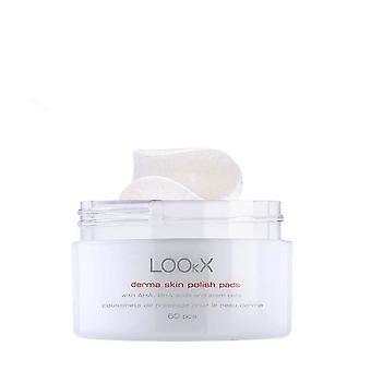 Lookx derma skin exfoliating polish pads - 60 pcs