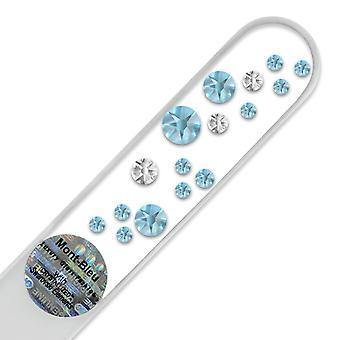 Nail file Swarovski S-M - Aquamarine - Crystal