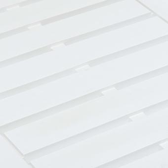 vidaXL Tuintafel Wit 78×55×38 cm Kunststof