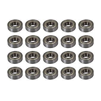 20PCS Single Row 6001ZZ Deep Bearings for Polishing Equipment 12x28x8mm