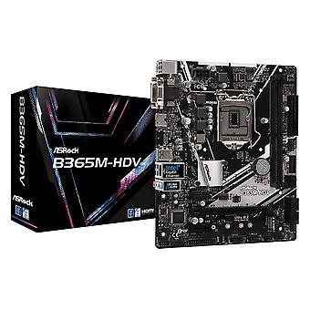 アスロック B365M-HDV インテル ソケット 1151 マイクロ ATX DDR4 M.2 HDMI/DVI-D/VGA マザーボード