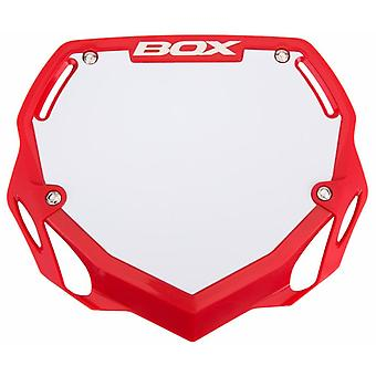 Box Phase 1 Large Number Plate Red