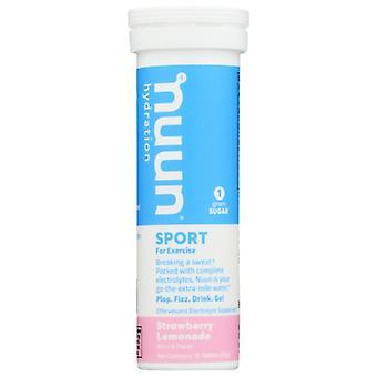 Nuun Sport Strwbry Lemonade, Case of 8 X 10 TB