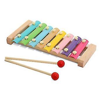 2 x 8-Note bunte Aluminium Platte Percussion früh pädagogische musikalische Spielzeug für Kleinkinder Baby az11761