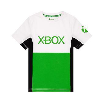 T-shirt XBOX pour garçons et filles | Les enfants bloquent le logo du jeu vert Top | Enfants joueurs Vêtements Marchandise