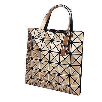 Holografisk geometrisk tyghandväska handväska för kvinnor (guld)