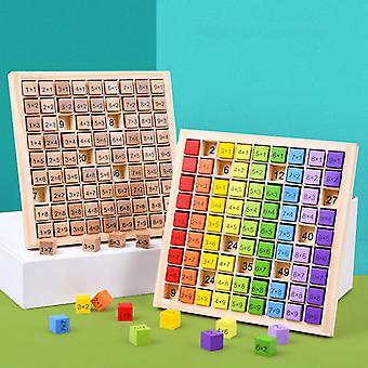 99 Multiplikationsbord Leksak Montessori Pedagogiska träleksaker för barn Matematik Aritmetisk Undervisning