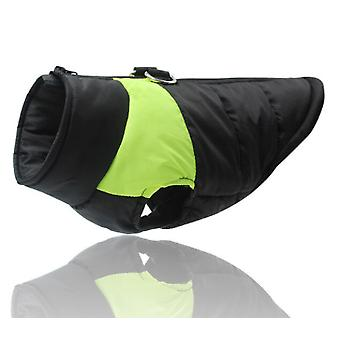 Waterproof Dog Clothes for Small Dogs Winter Warm  Jacket color Green