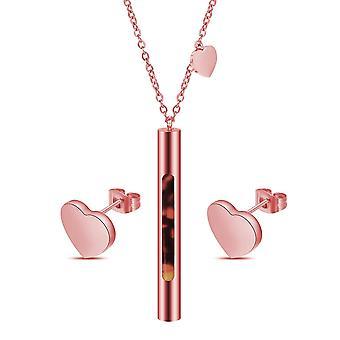 Ditt hjärtset täckt med kristaller från Swarovski- Silver 2 Pack