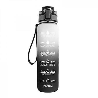 Large Water Bottle With Motivational Time Markerremovable Strainer