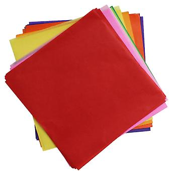 480 Assorted Colours Tissue Paper Squares for Kids Crafts - 125mm