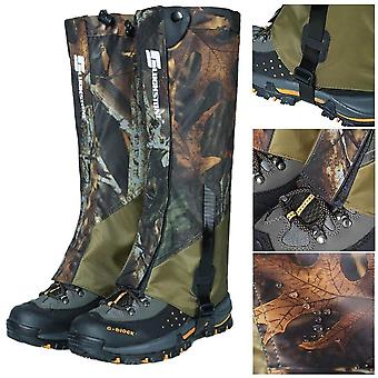 Outdoor durable waterproof highly breathable hiking climbing hunting double-deck high gaiters snow legging wraps