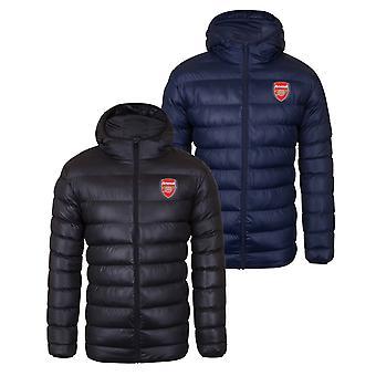 Arsenal FC Mens Jacket Hooded Winter Gewatteerde OFFICIËLE Voetbal Cadeau