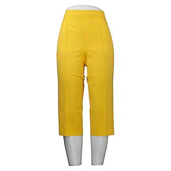Isaac Mizrahi En direct! Pantalon pour femmes Pédale Pusher Pintucks Jaune A377474