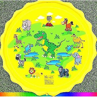 Pvc Toy Water Spray Pad And Summer Lawn Playing(Yellow Dinosaur)