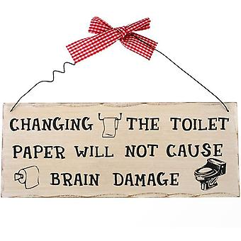Changing The Toilet Paper Hanging Sign