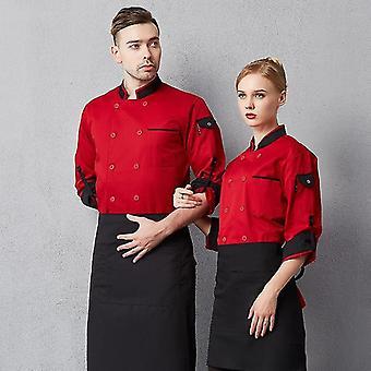Chef Long Adjustable Sleeve Cook Coat Restaurant Hotel Kitchenware Waiter