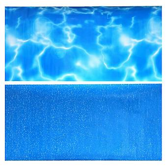 """Penn Plax Double-Back Aquarium Background - Tropical Reflections / Blue Bubbles - 19"""" Tall x 48"""" Wide - (Fits up to 75 Gallons)"""