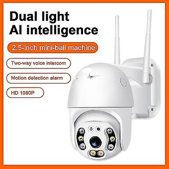 Security monitors recorders wifi camera 1080p h.265 Us/eu wireless mini webcam audio ir dual light motion alarm cloud storage