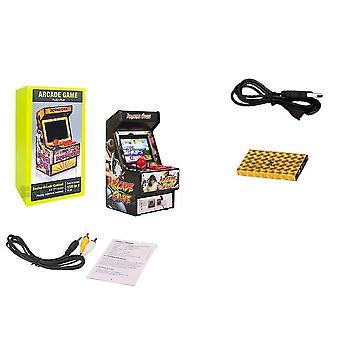 156 spil i 1 håndholdt mini arkade spil med 2,8 tommer farveskærm og genopladeligt batteri (sort)