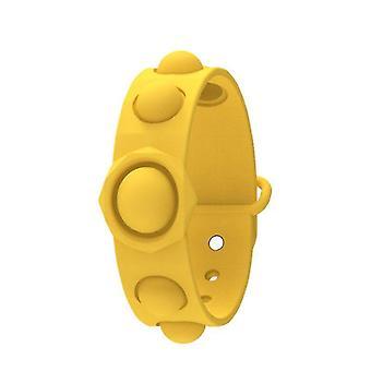 Push bubble pop it sensoriale fidget toy, braccialetto anti stress per 3+ bambini e adulti (giallo)