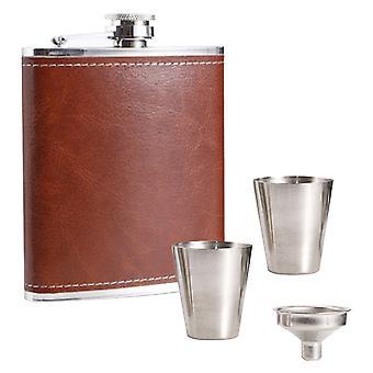 hip kolbe alkohol drikke kolbe med trakt og skutt glass gaveeske