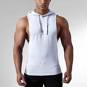 Męska kamizelka z kapturem Tank Tops Koszulka kulturystyczna Bez rękawów Siłownia